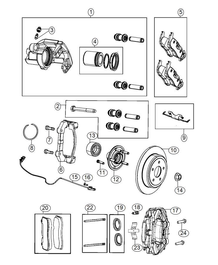 2015 Jeep Grand Cherokee Caliper assembly. Disc brake