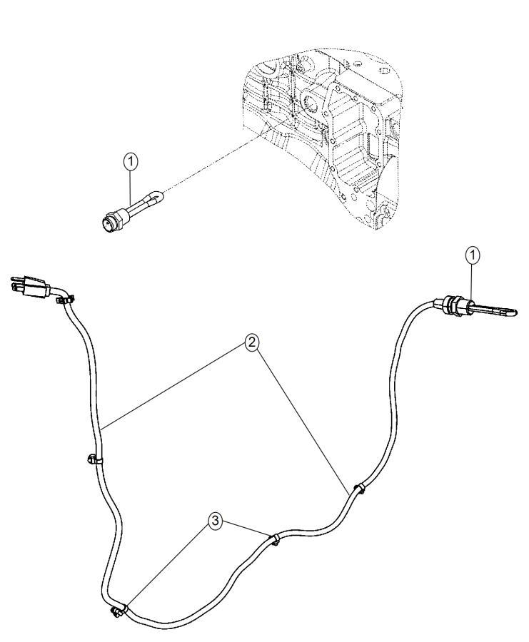 2015 Ram 3500 Cord. Engine block heater. Diesel, cylinder