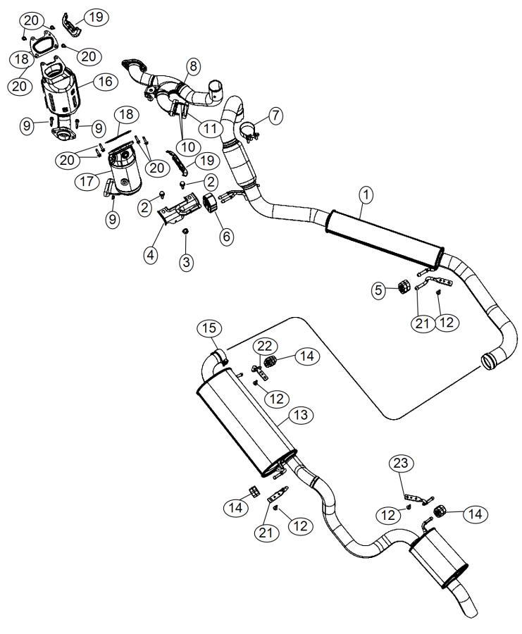 Dodge Grand Caravan Pipe. Exhaust crossunder. After 5/25
