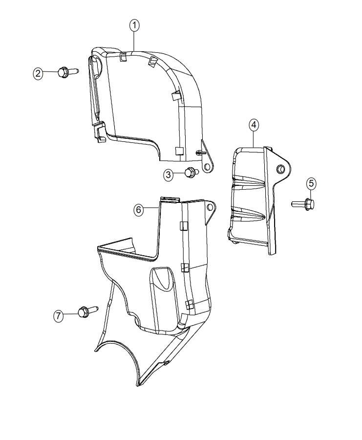 2015 Dodge Dart Cover. Timing belt. Side. Covers, spd