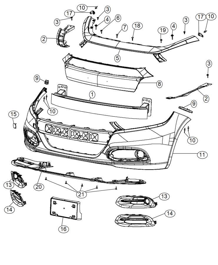 2015 Dodge Dart Spat. Front fascia. Right. Fuel, economy