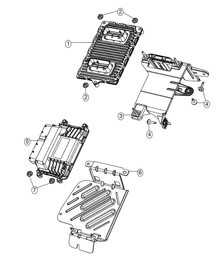 2014 Dodge Dart Bracket. Transmission control module