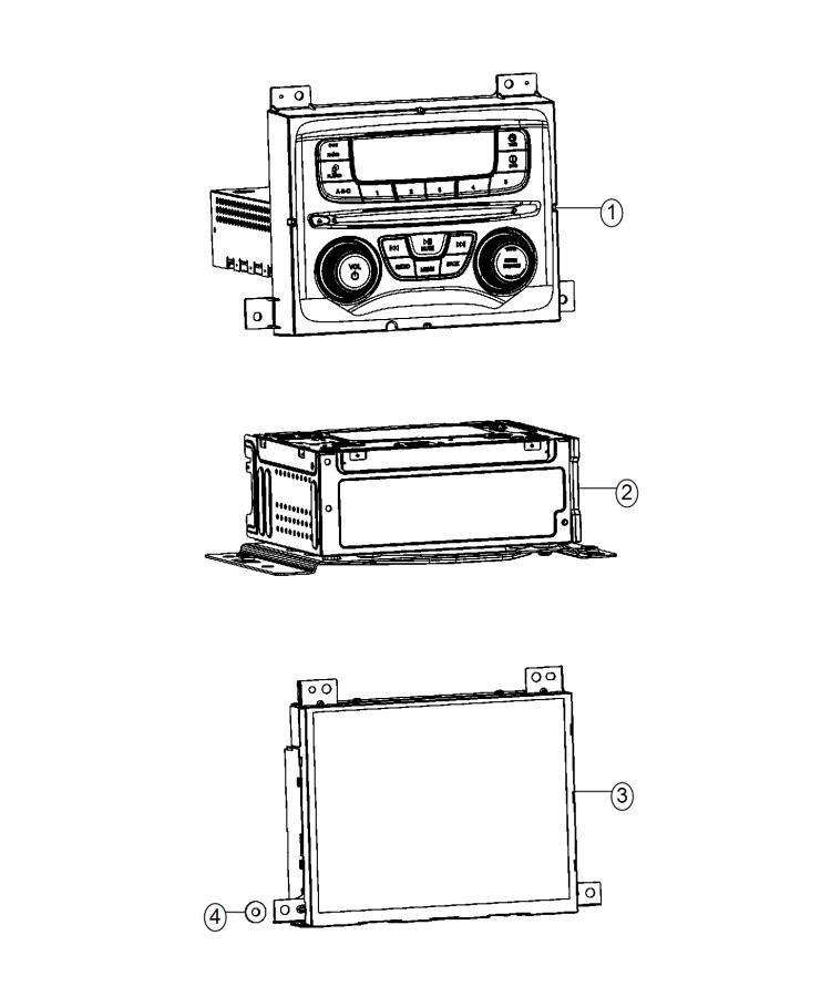 Dodge Dart Radio. Multi media. [instrument panel parts