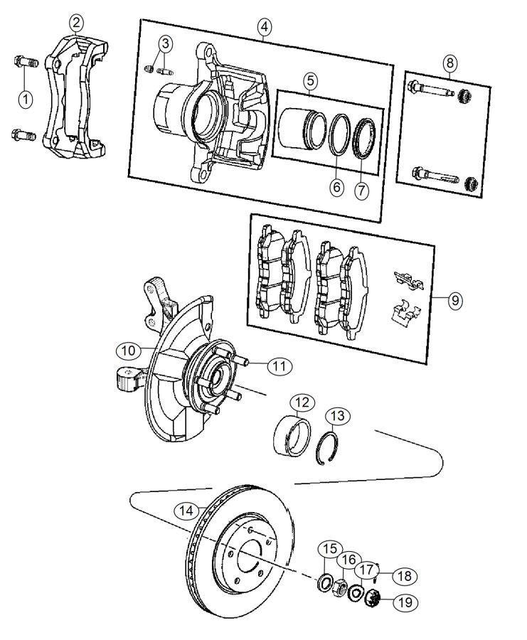2015 Jeep Patriot Pad kit. Disc brake, front disc brake