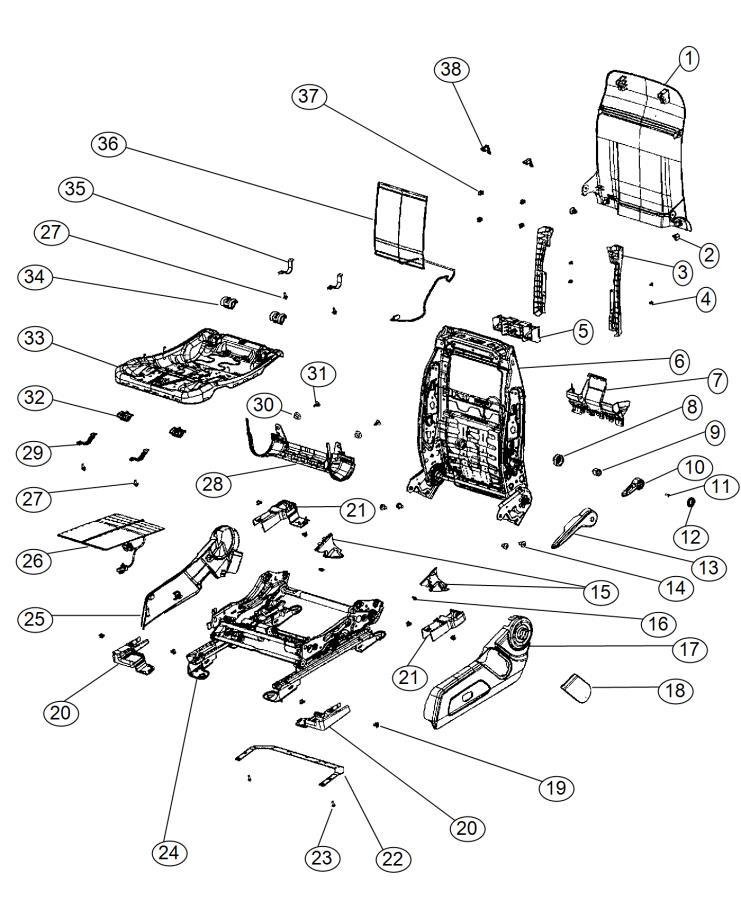 2014 Jeep Compass Shield. Seat. Trim: (*rl.)color: (-ka