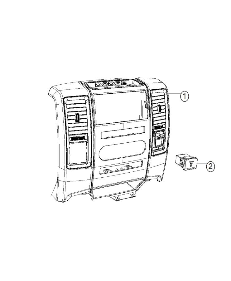 2015 Ram 2500 Power outlet. Inverter. Auxiliary, module