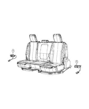Dodge Ram 3500 Wiring Rear seat Surround, overhead, ambient  68217325AA | Mopar Parts Inc