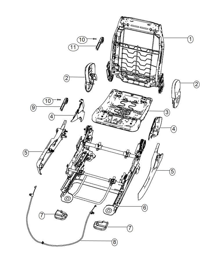 2014 Dodge Avenger Shield. Outboard. Fold flat. Trim: (*n7
