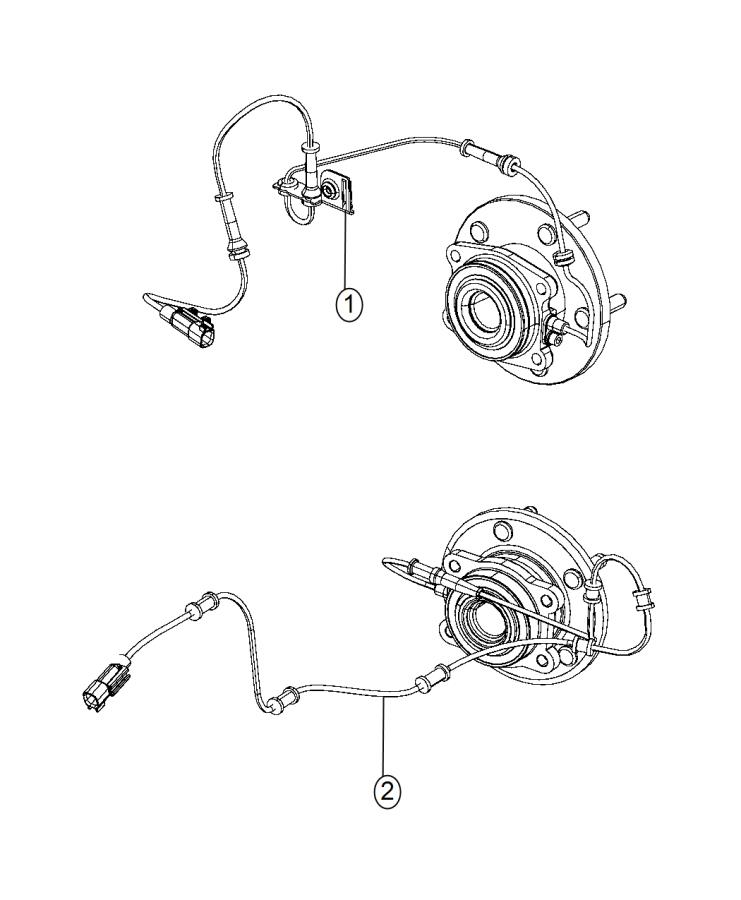 2014 Jeep Grand Cherokee Sensor. Front. Anti-lock brakes