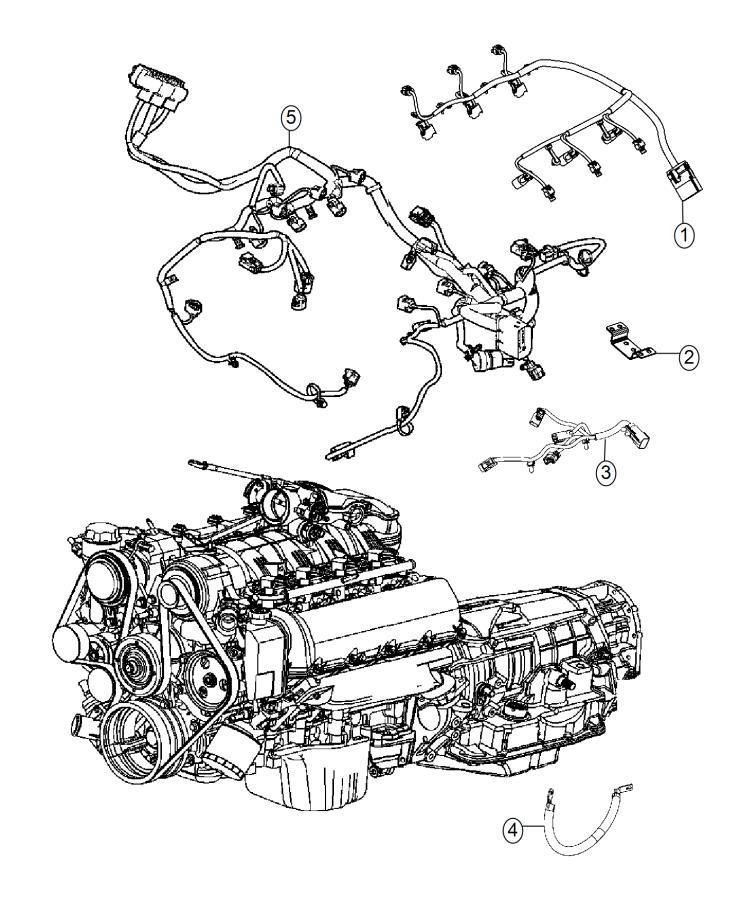 2015 Dodge Durango Wiring. Engine. Powertrain, mopar