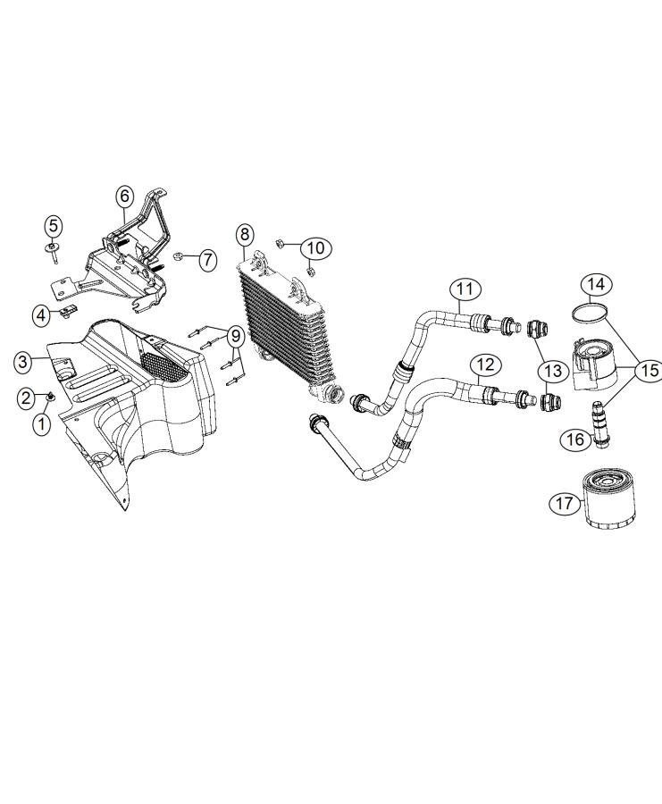 Dodge Charger Cooler. Engine oil. Lines, coolant