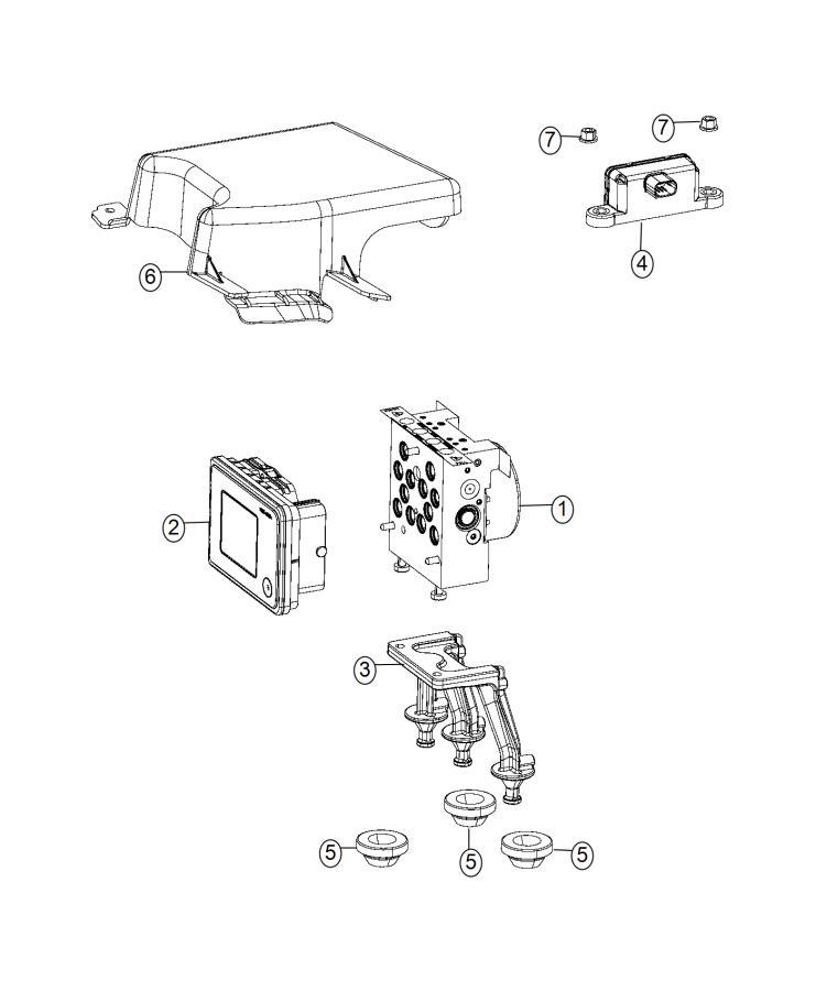 Dodge Charger Module. Anti-lock brake system. Control