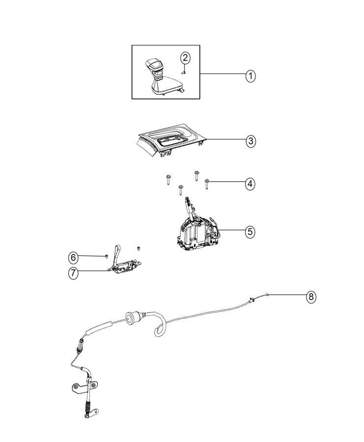 Dodge Charger Bezel. Gear shift indicator. Trim: [no
