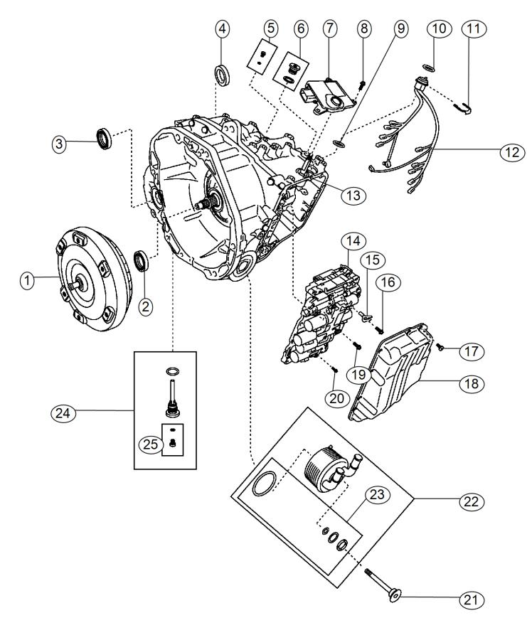Fiat 500L Wiring. Transmission. Export. [160 horse power