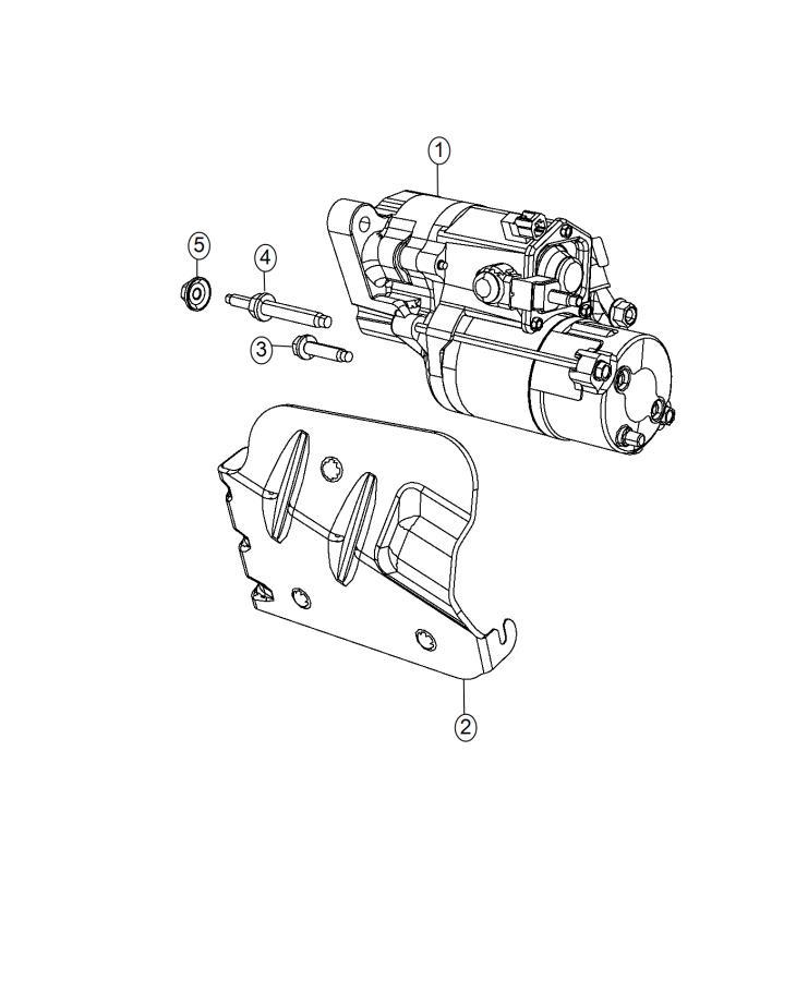 2015 Chrysler 300 Bracket. Wiring harness. Starter, engine
