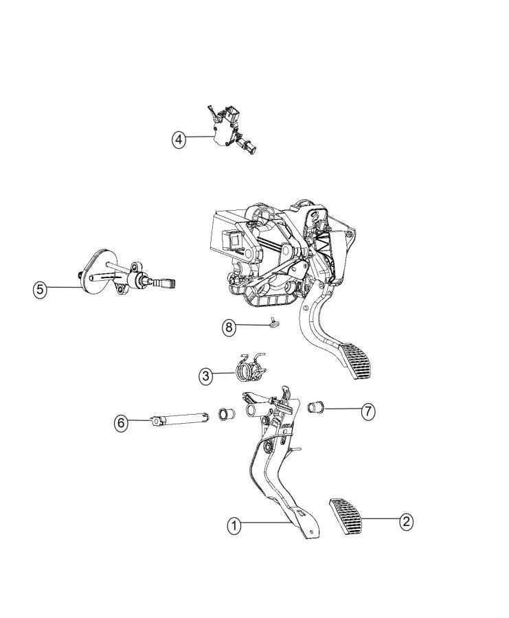 Fiat 500L Switch. Clutch starter interlock. [6-speed c635