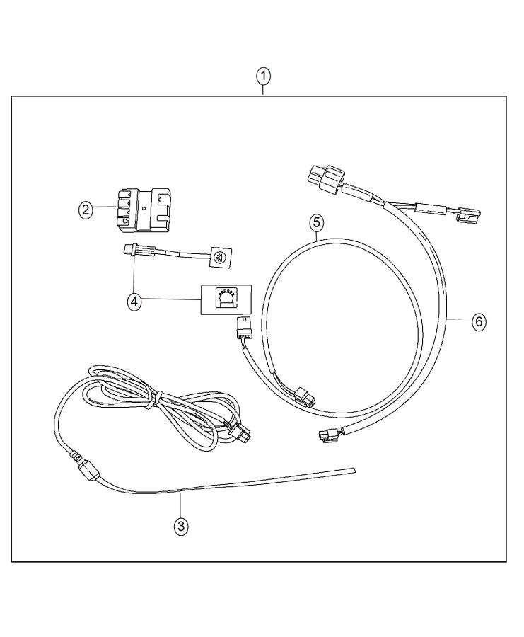 2014 Ram 4500 Harness. Wiring. With switch and bezel