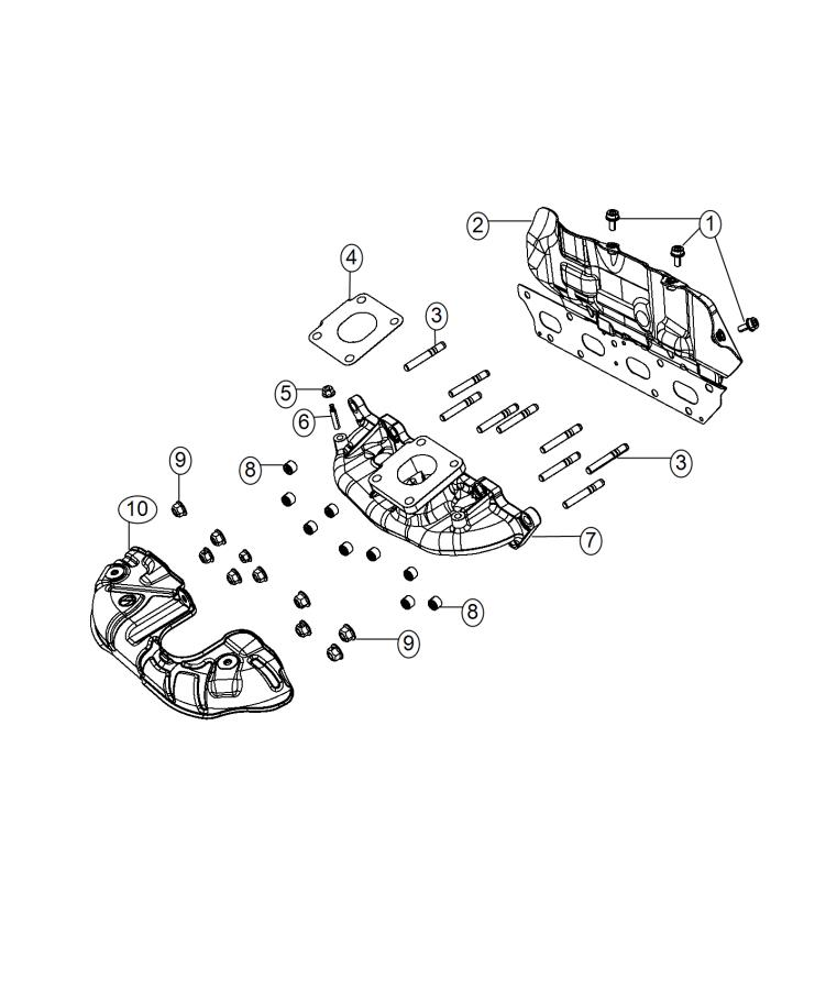 2016 Jeep Renegade Gasket. Turbocharger. Engine, multiair