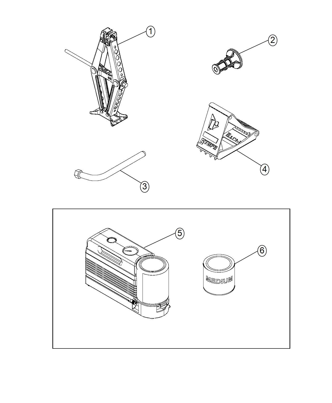Jeep Renegade Compressor. Tire. [tire service kit], [tire