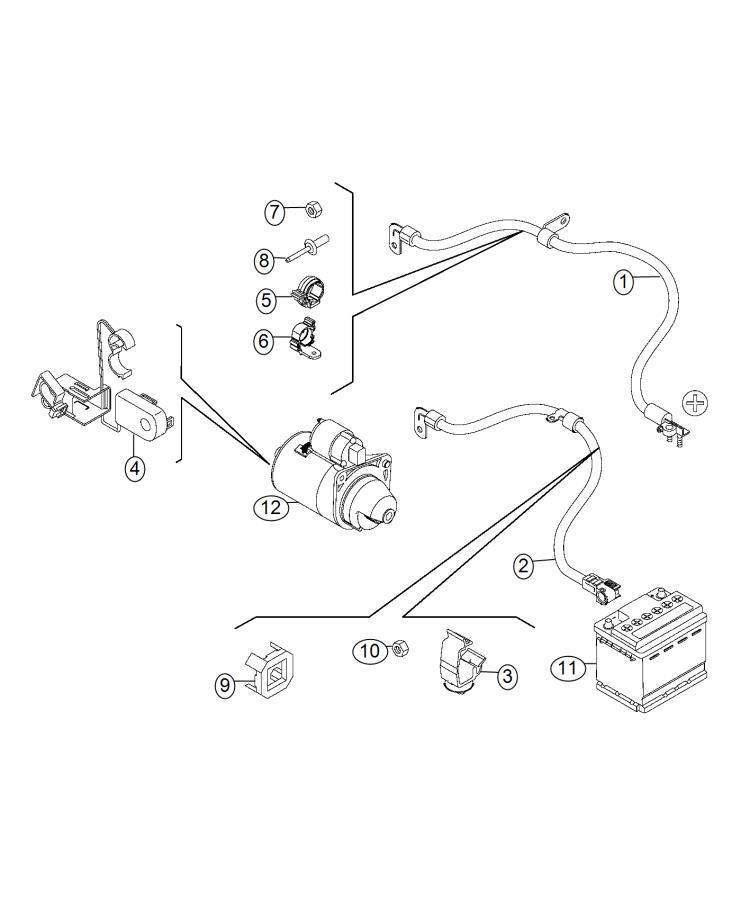 Fiat 500L Clip. Retainer. Canada, mexico. Wiring, mopar
