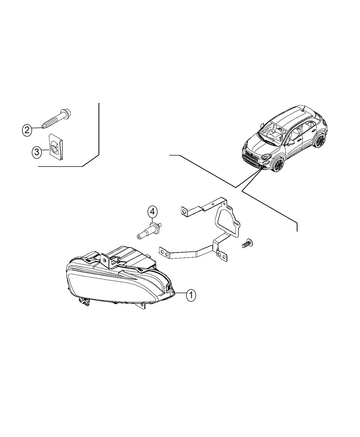 2016 Fiat 500X Bulb. Export. Maintenance, bulbs