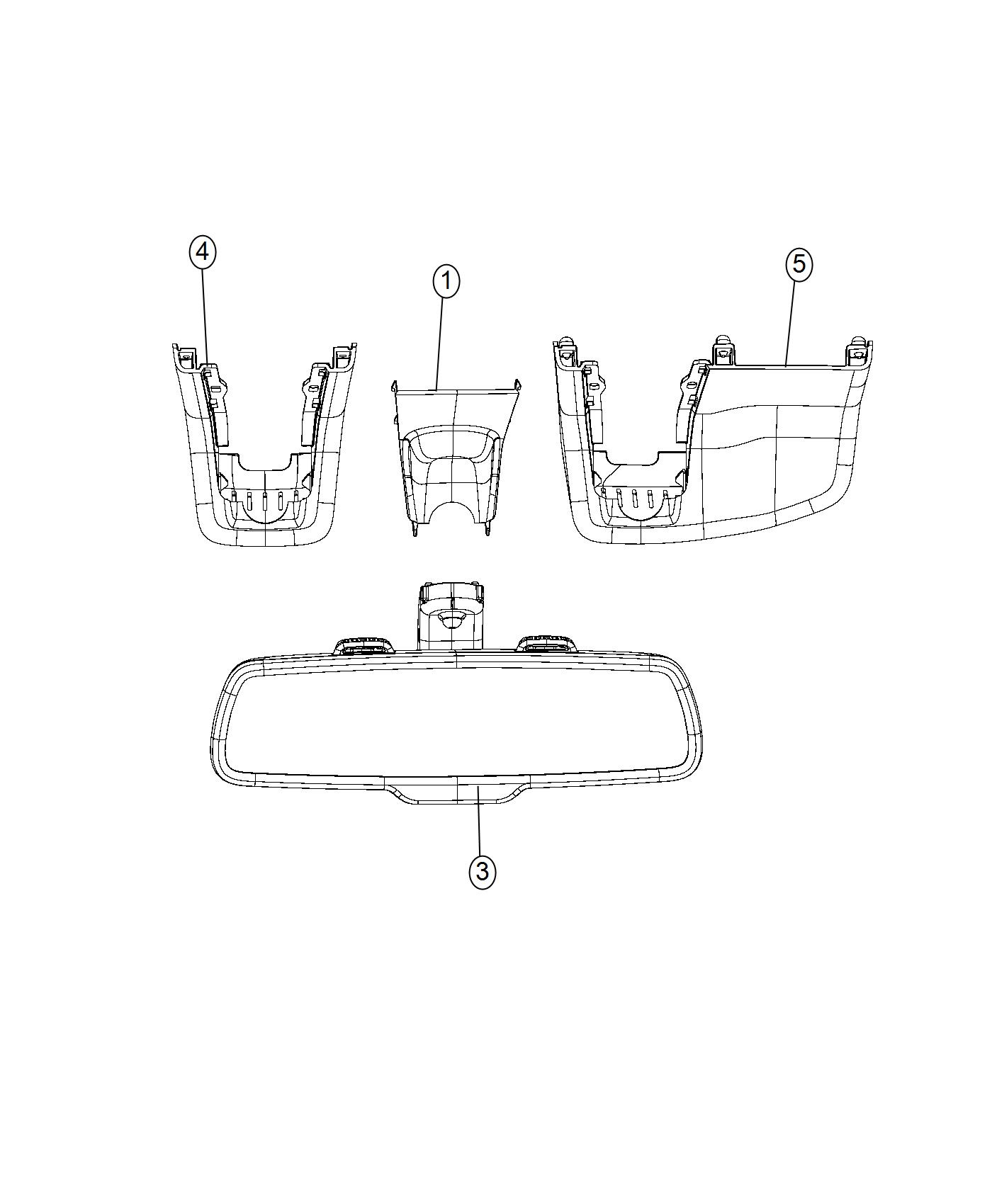 Chrysler 300 Mirror. Inside rear view. [rr view auto dim