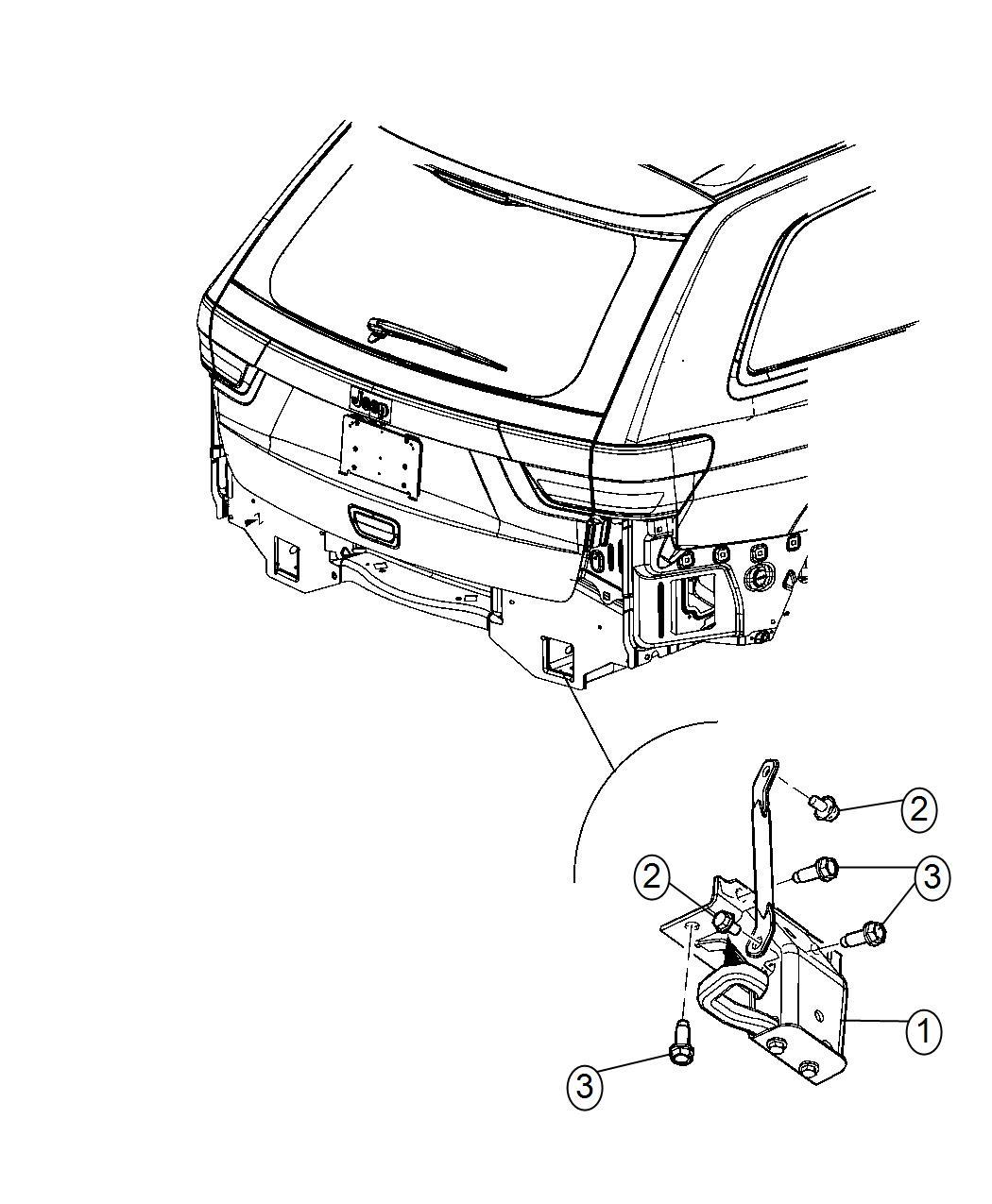 2020 Jeep Grand Cherokee Hook. Tow. [tow hooks], [tow