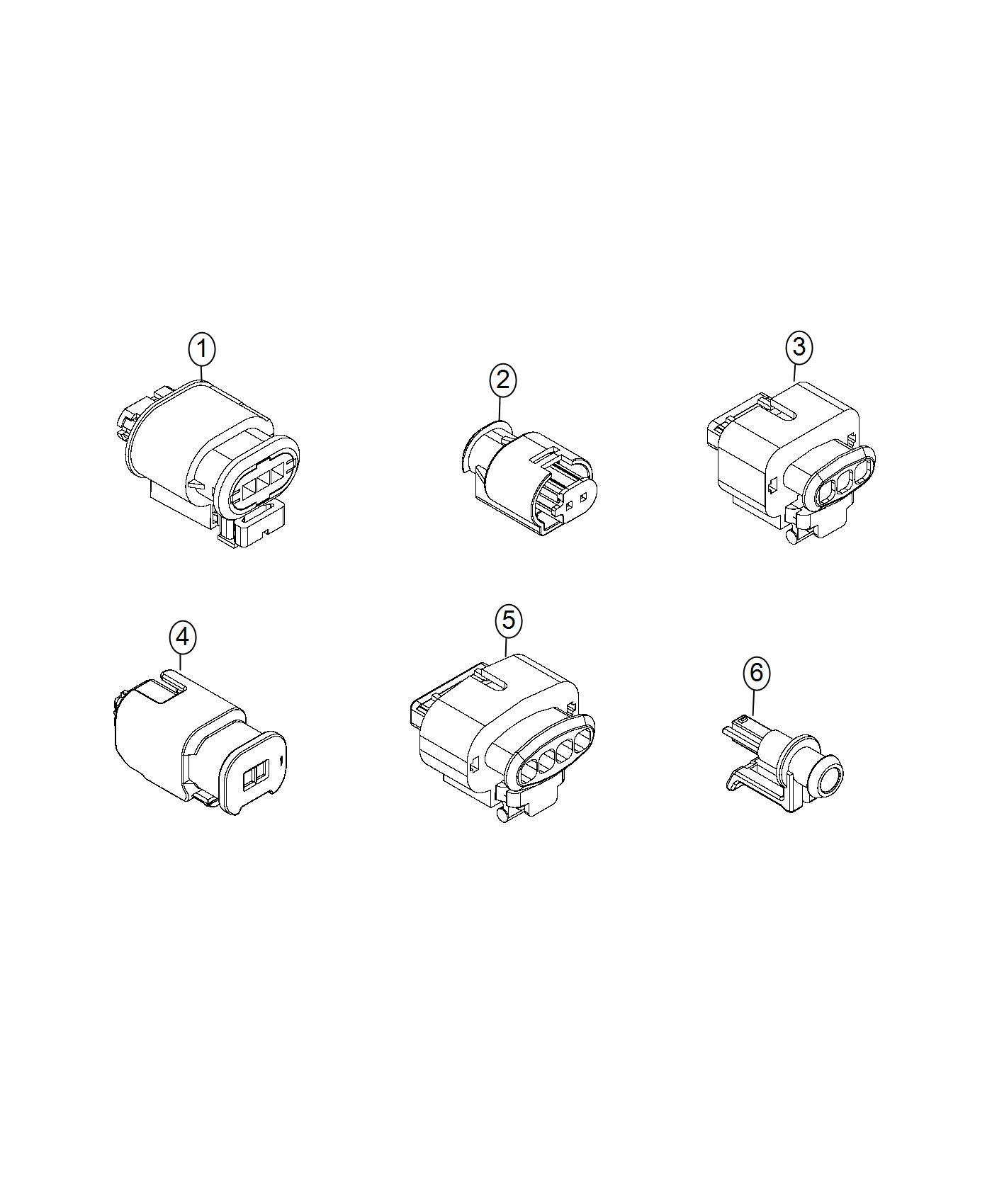 Fiat 500x Connector Repair Kit Abs Sensor Electrical