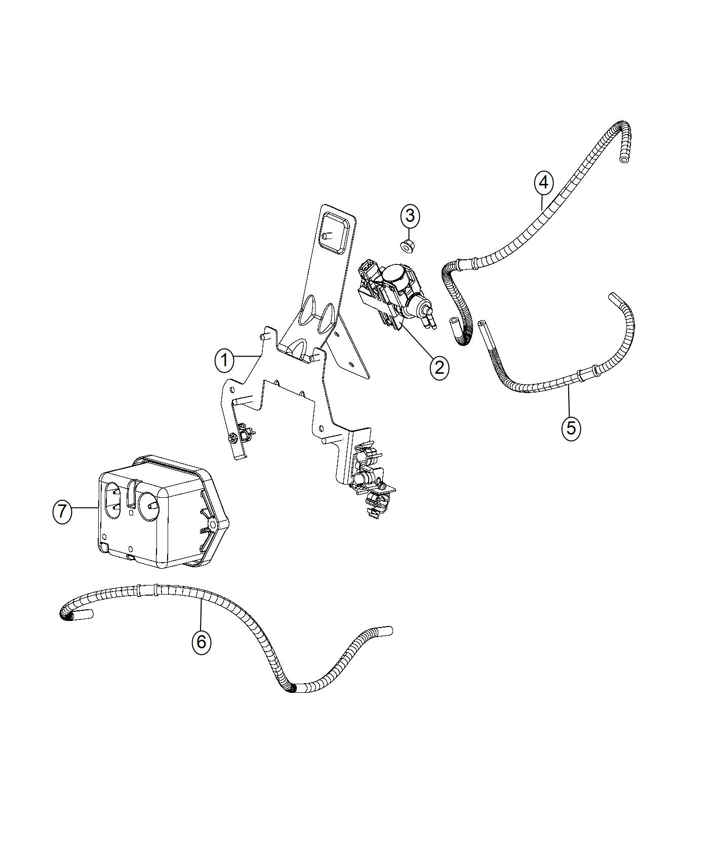 Dodge Ram Bracket Fuel Line Harness Vacuum