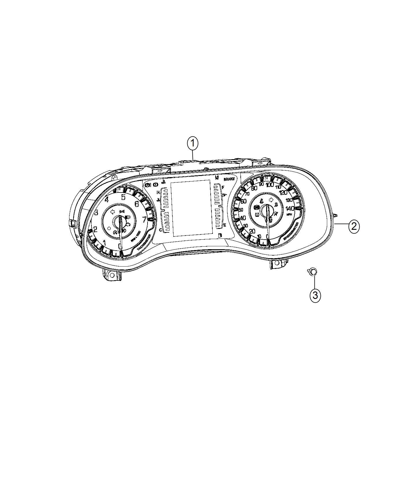 Chrysler 200 Mask Instrument Cluster Module Panel Speedometer