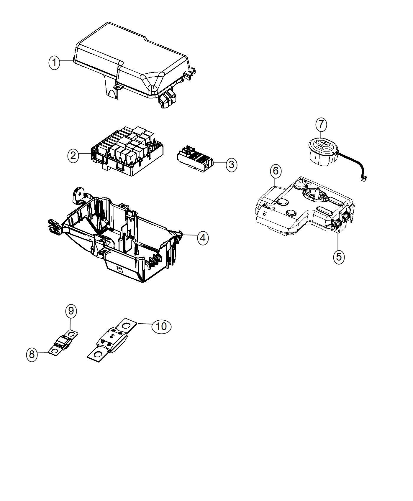 Dodge Dart Fuse Mega 200 Amp Shuttersfog Shutterssingle Hornfog Shuttersremote