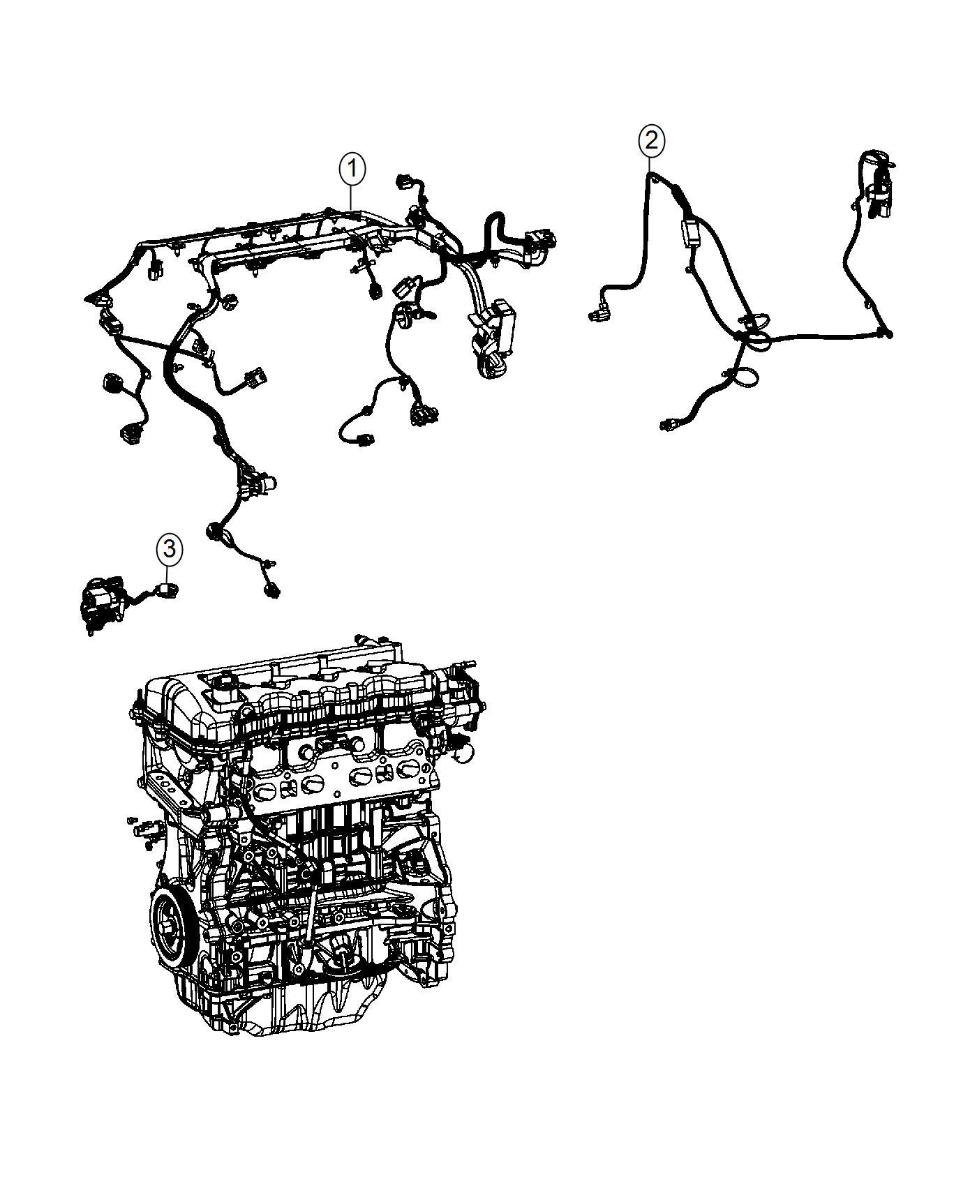 2016 Dodge Dart Wiring. Engine. [heater w/instrument pnl