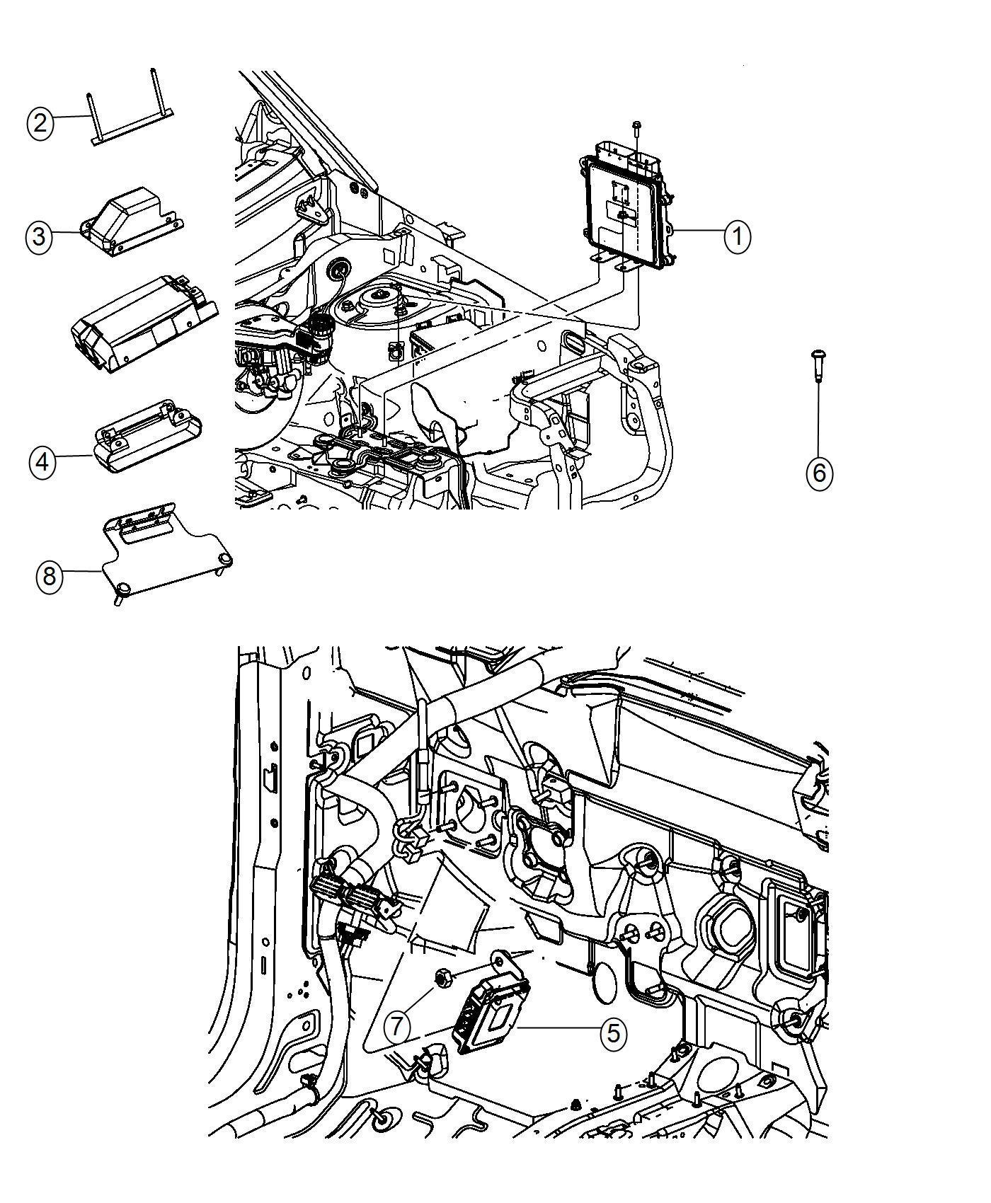 2016 Jeep Compass Bracket. Transmission control module