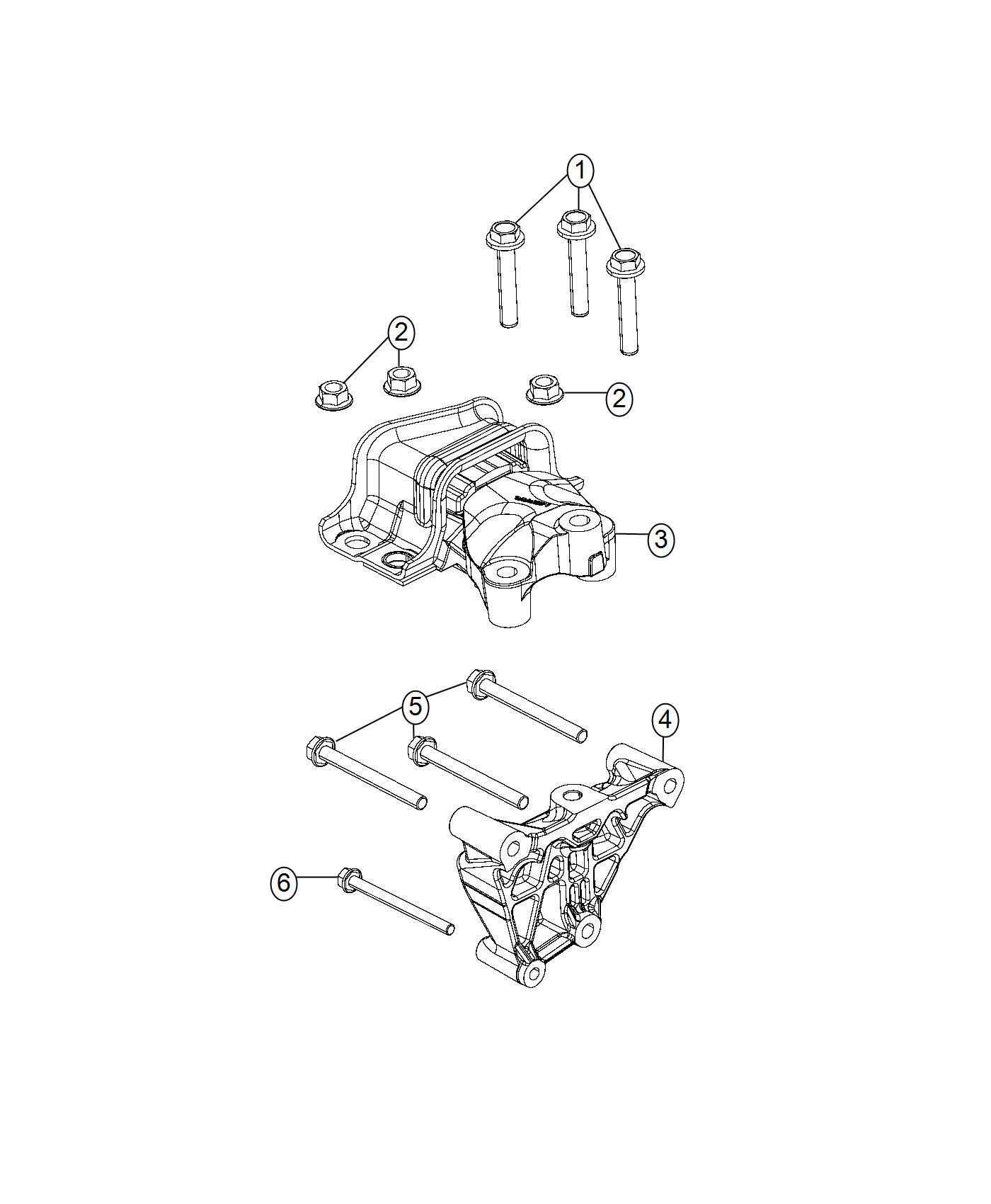 Dodge Ram Bolt 6 Lobe External Head M12x1 75x69 00 Mounting Engine Mount To