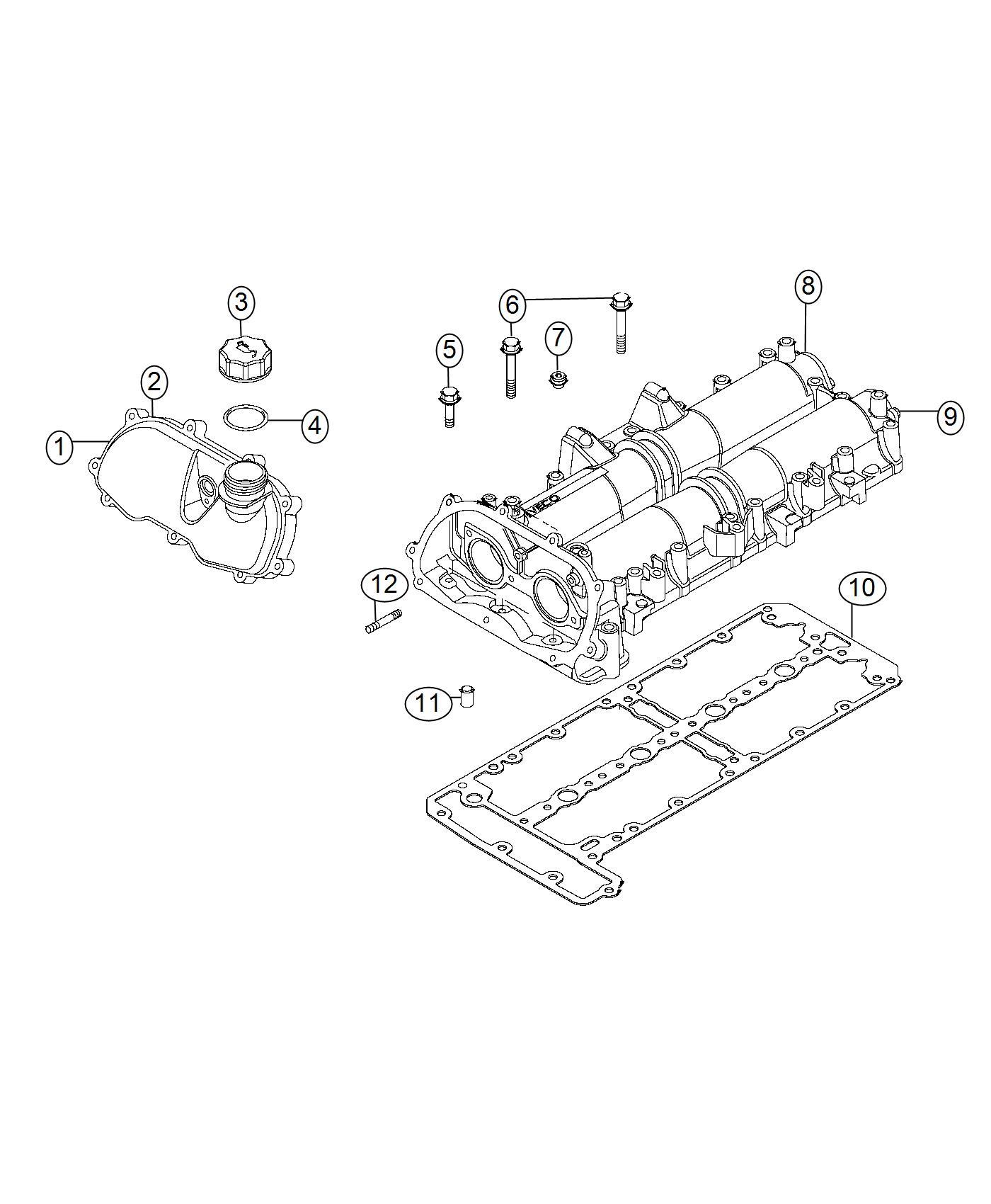2016 Dodge Ram 2500 Stud. Heater, engine, block