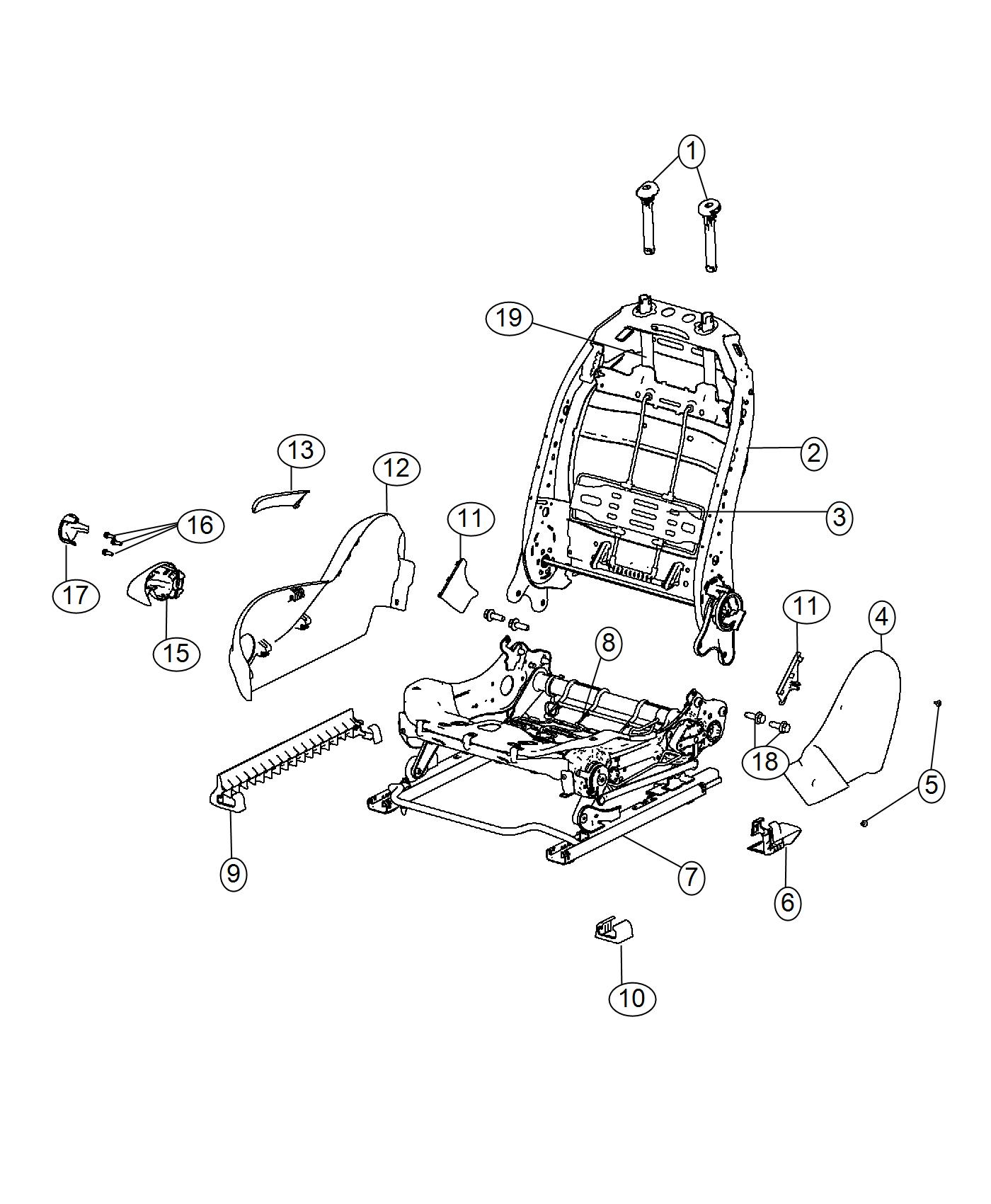 2016 Dodge Dart Shield. Passenger outboard. Trim: [cloth