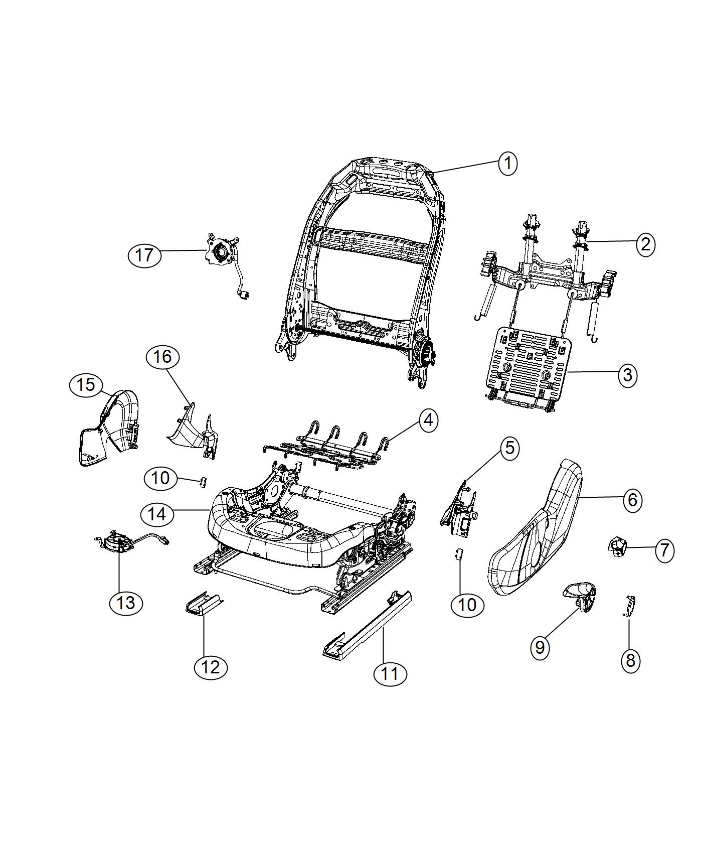 2016 Chrysler 200 Shield. Seat. [black/diesel gray], [-x9