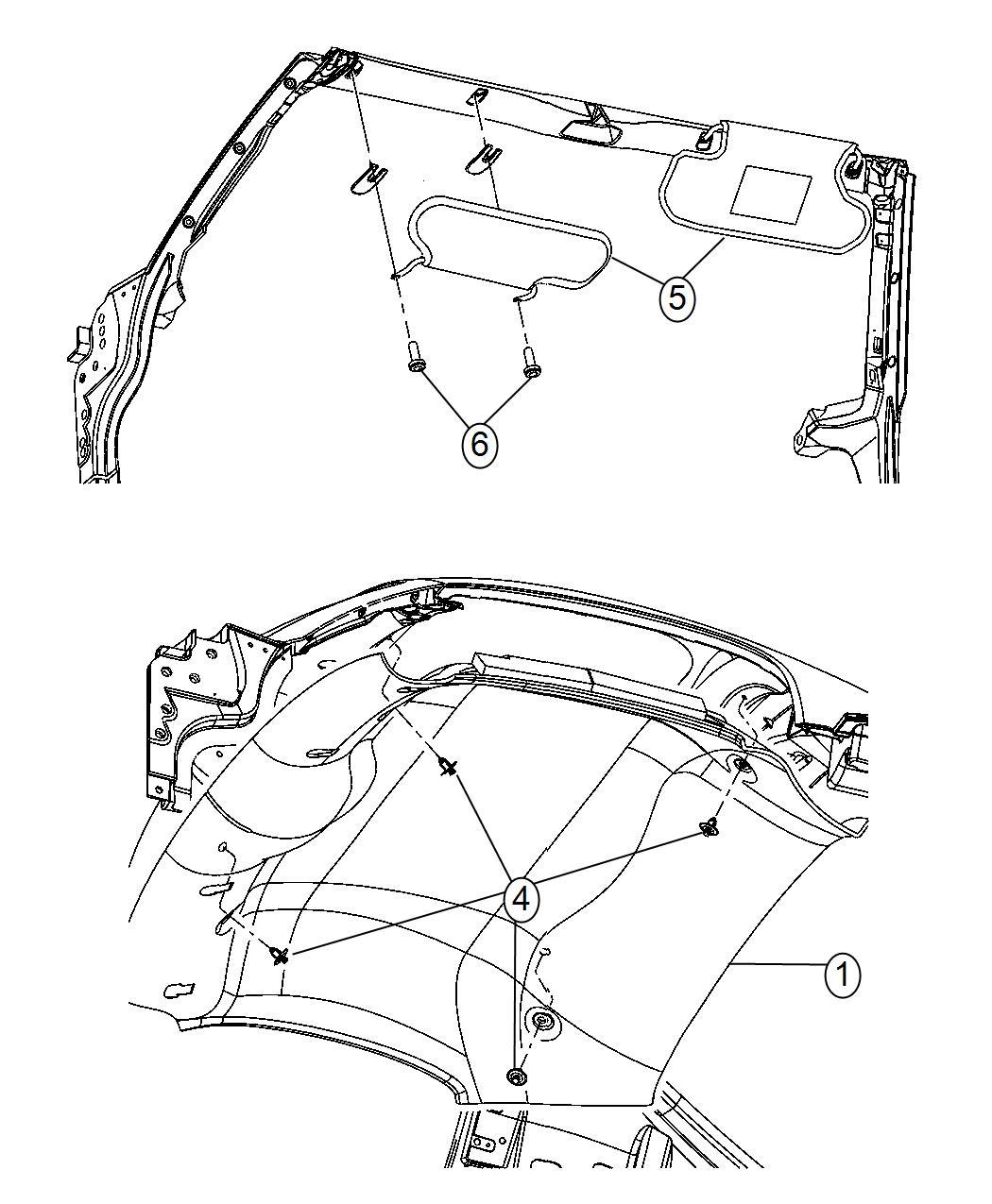 Dodge Viper Headliner. Trim: [no description available