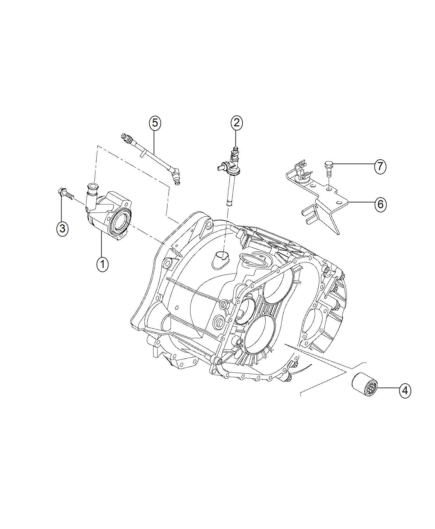 2015 Ram 1500 Roller bearing. Transmission. Trim: [no
