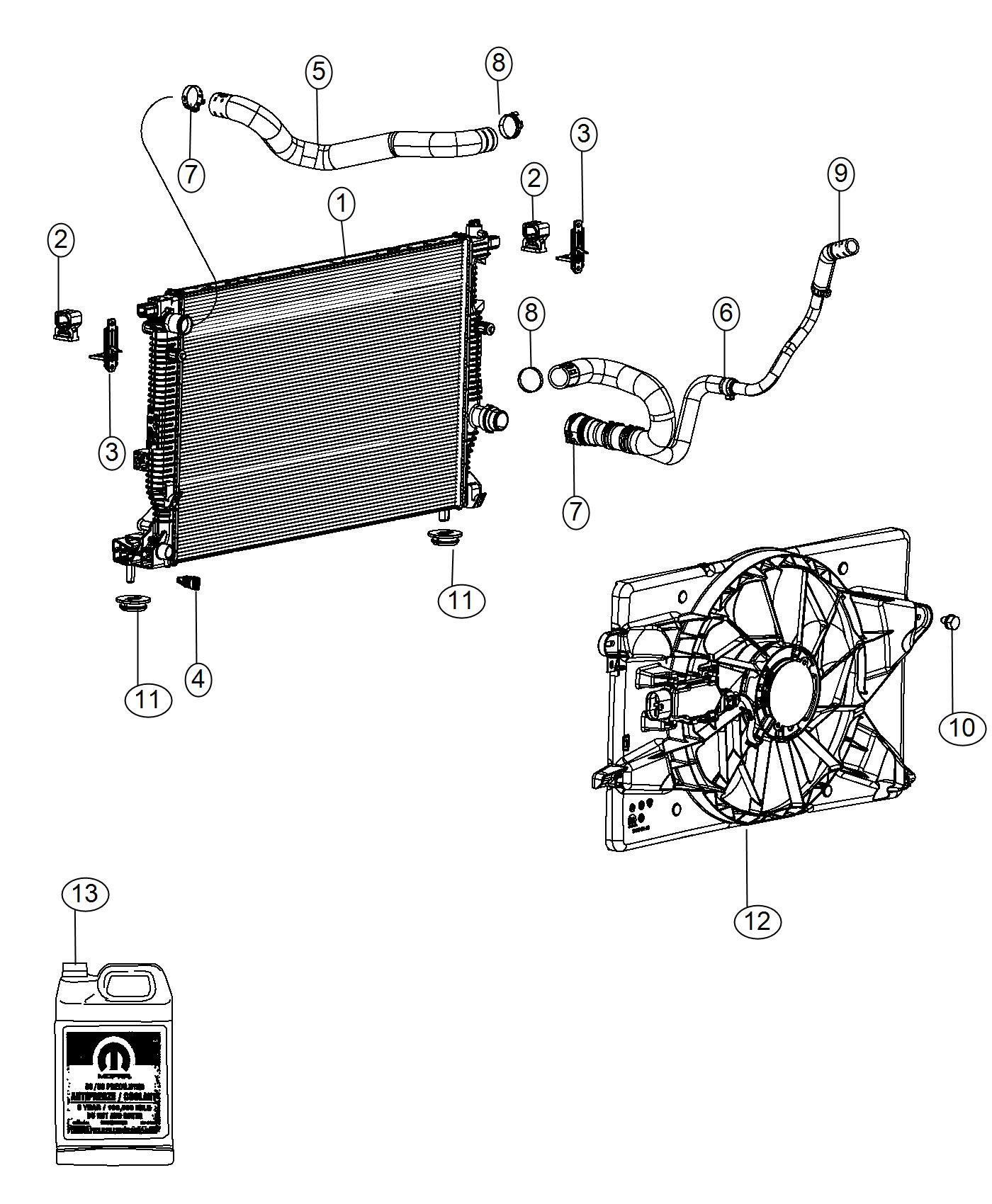 2016 Dodge Dart Hose. Radiator inlet. Cooling, maintenance