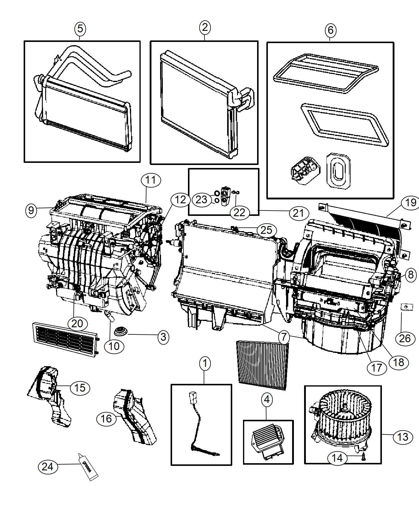 Jeep Patriot Evaporator Air Conditioning Heater