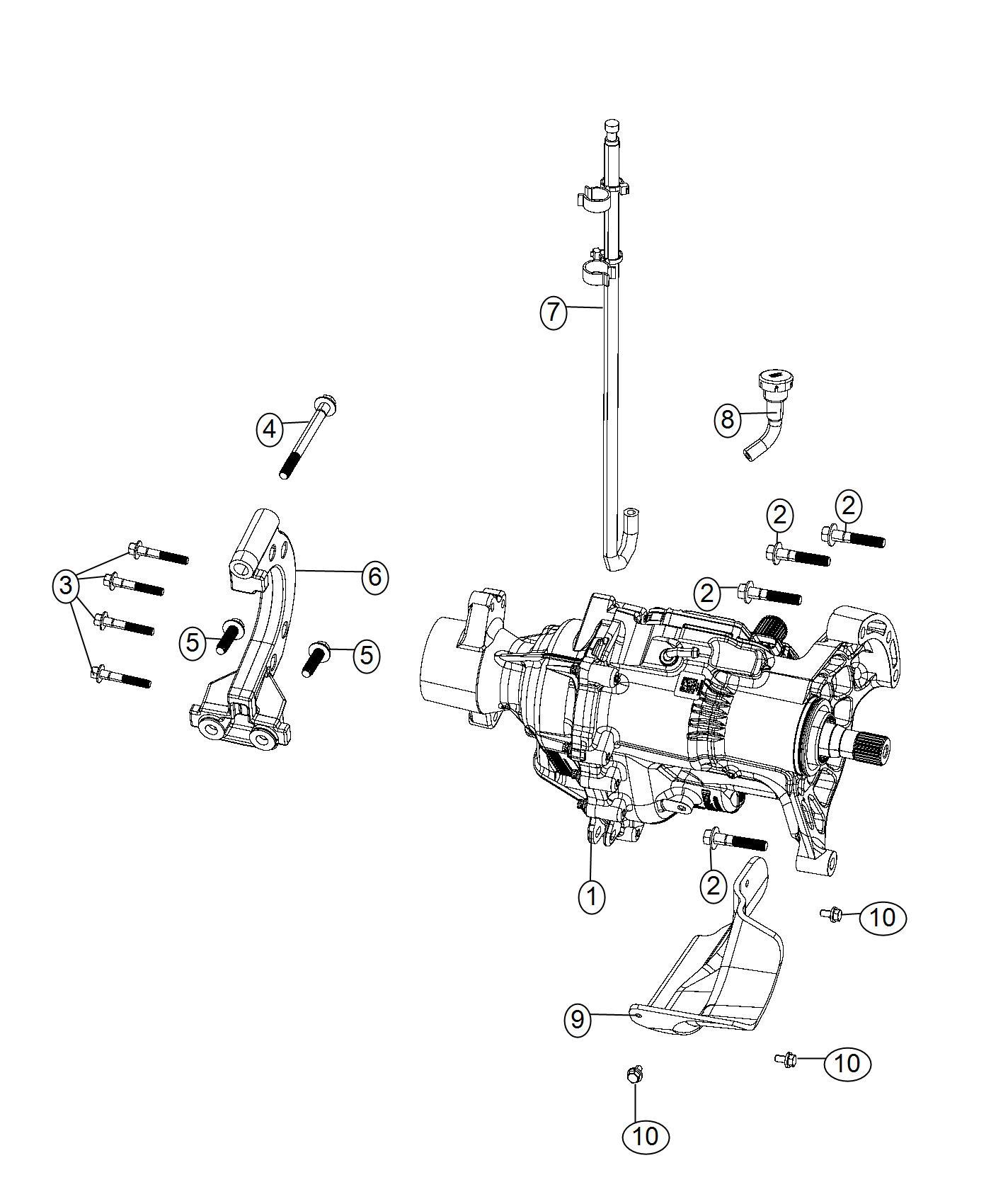 Chrysler 200 Bracket. Power transfer unit. Module, train