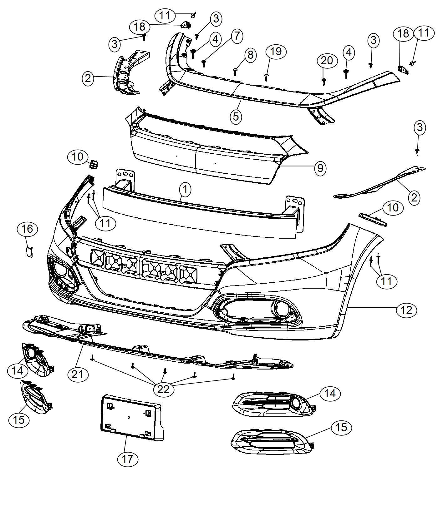 2016 Dodge Dart Spat. Front fascia. Right. Fuel, economy