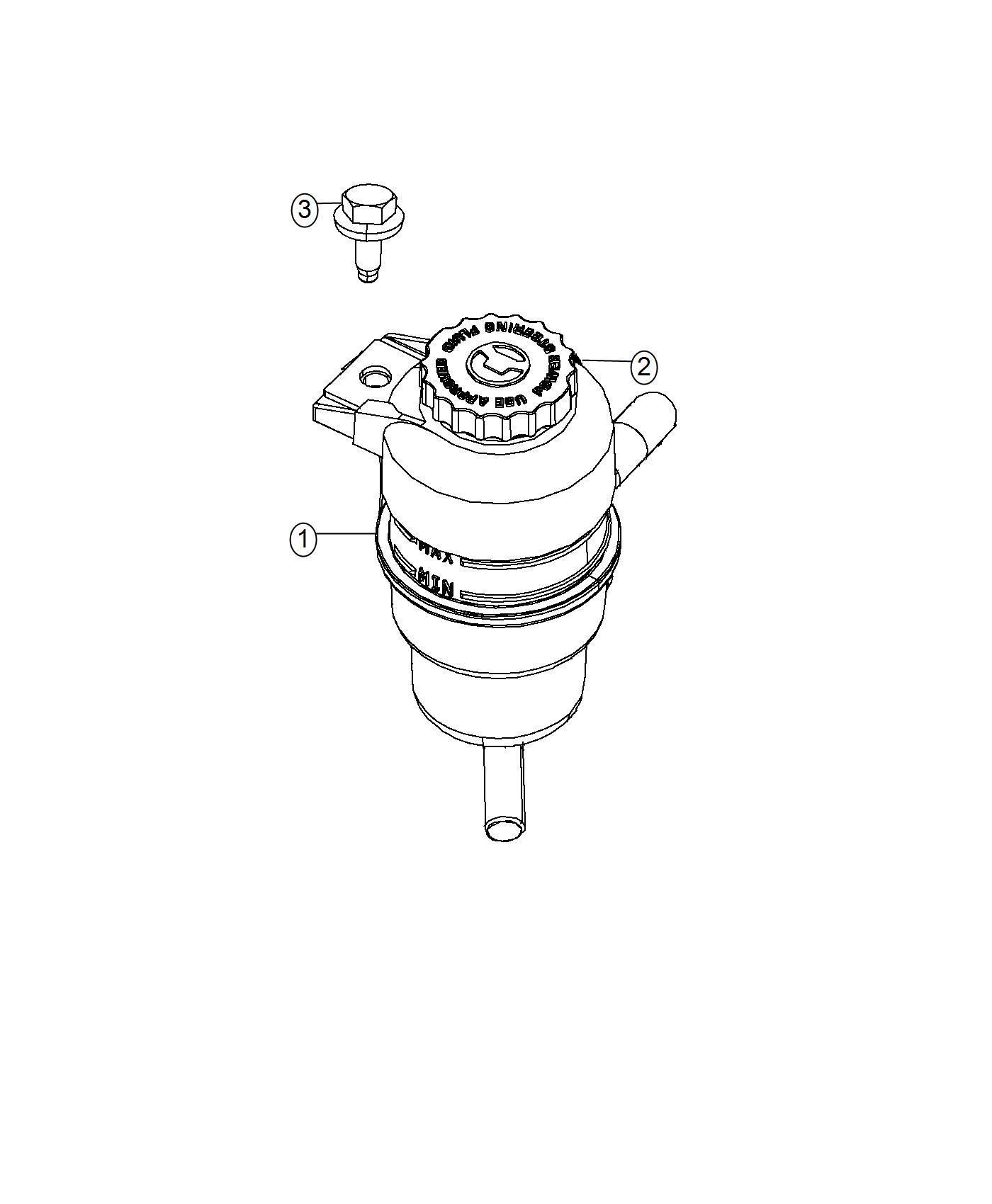 2016 Dodge Journey Cap. Power steering reservoir. [6.2l v8