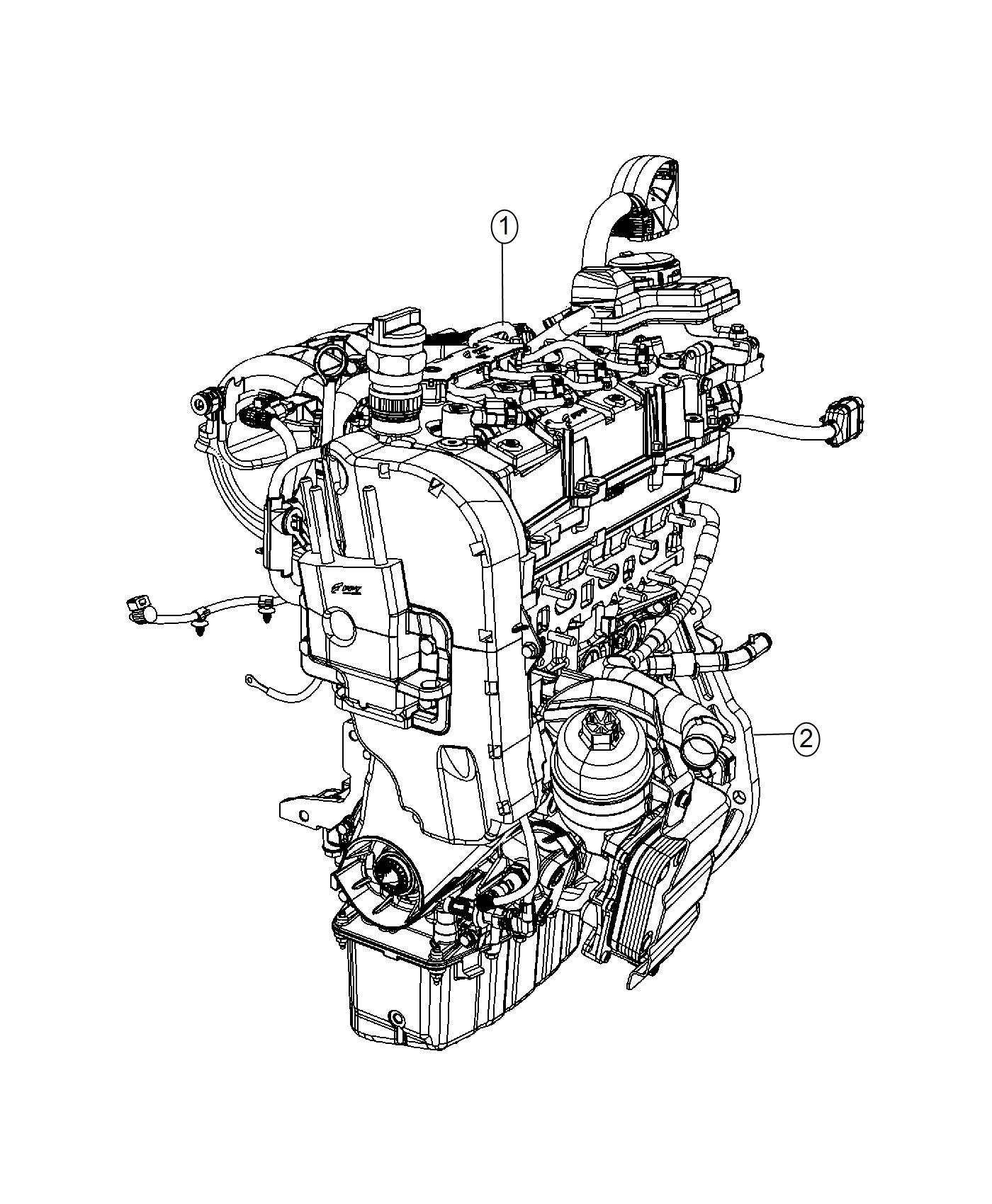 2016 Dodge Dart Engine kit. Long block. Heater, power