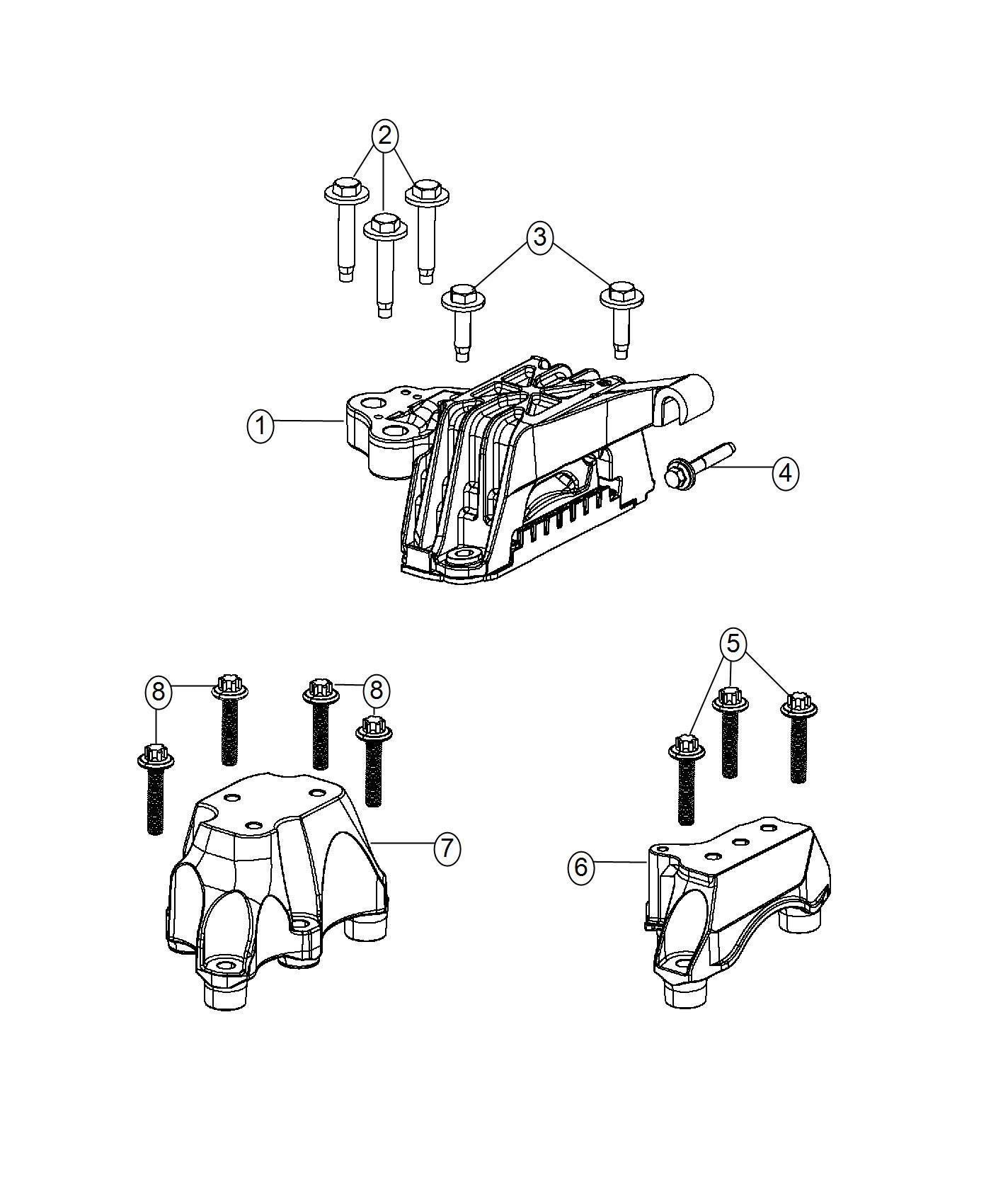 2016 Dodge Dart Insulator, isolator. Engine mount