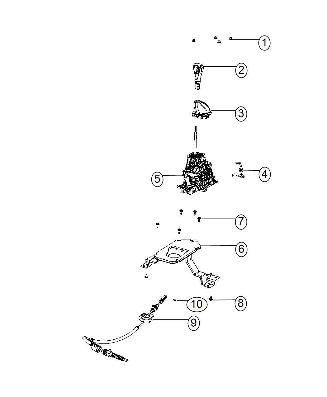 2016 Dodge Dart Plate. Transmission shifter. Gear