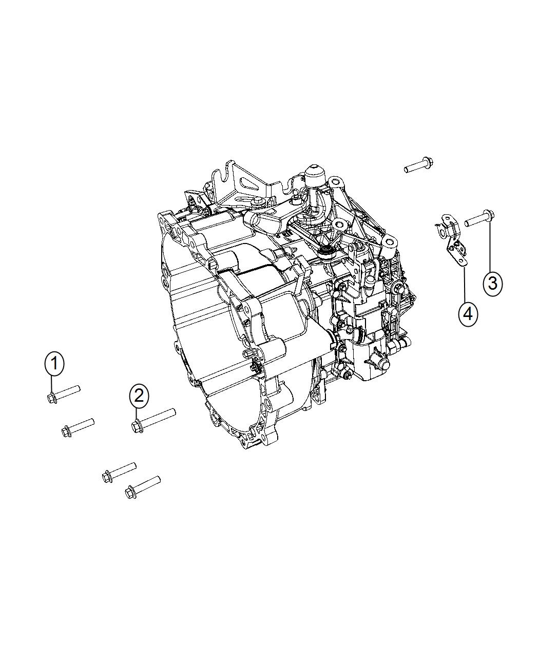 2016 Dodge Dart Bracket. Oxygen sensor. [power train parts