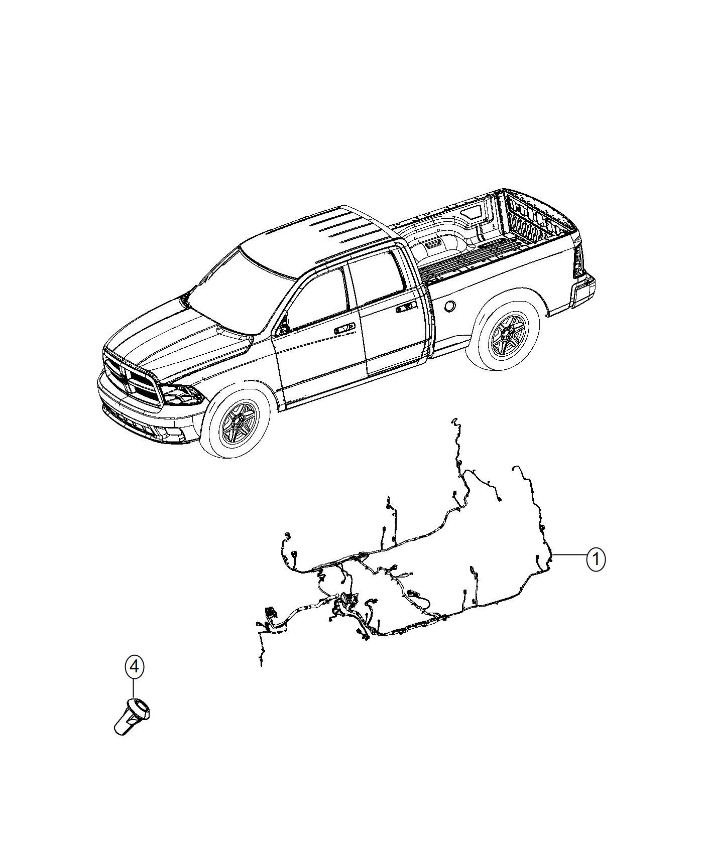 Ram 3500 Wiring. Body. [rear window defroster], [power