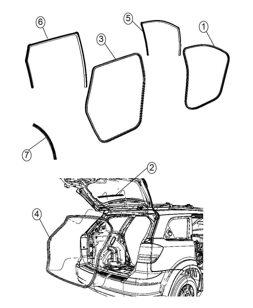 2016 Dodge Journey Seal. Wheelhouse. Rear. Left, right